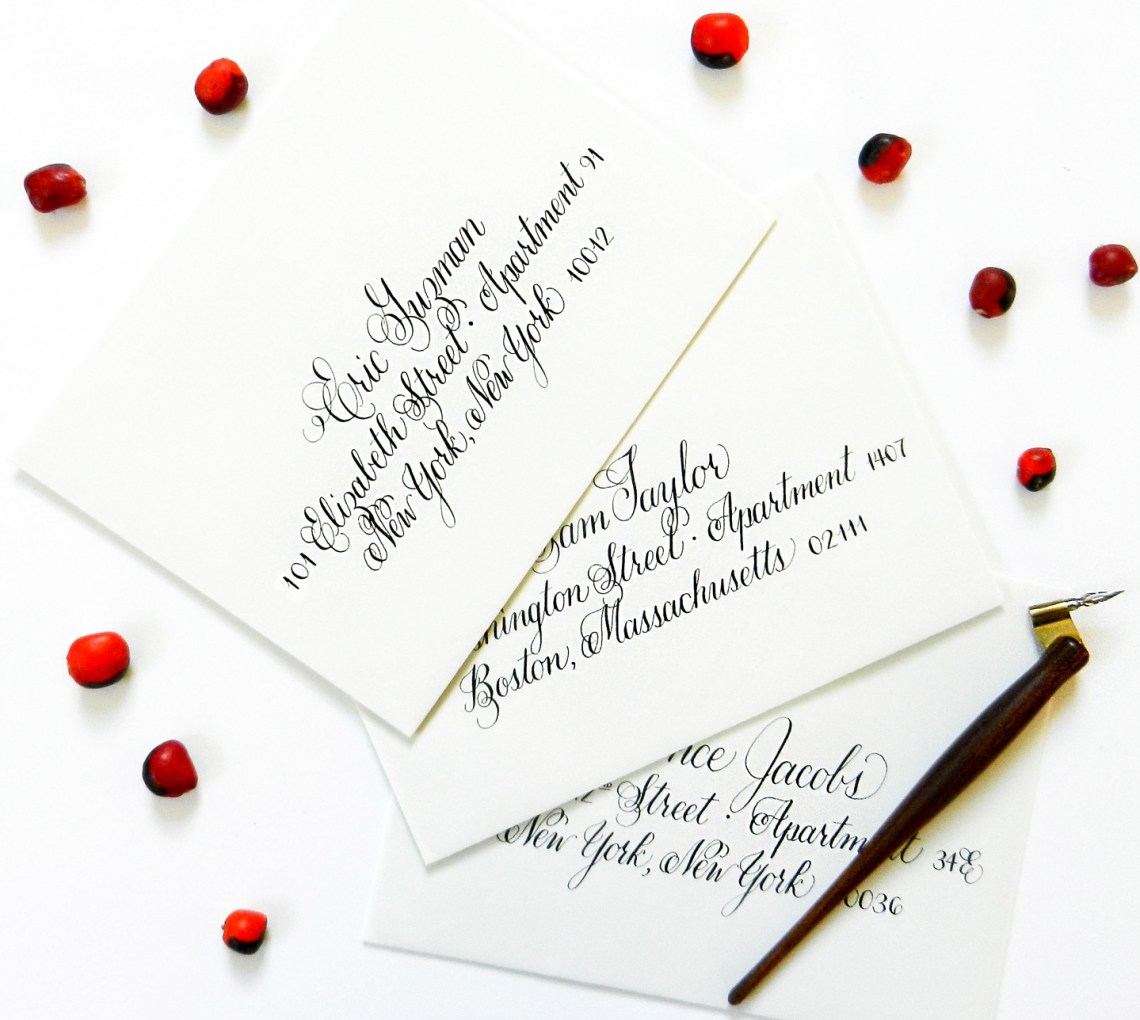 Janet Style Envelope Calligraphy   The Postman's Knock