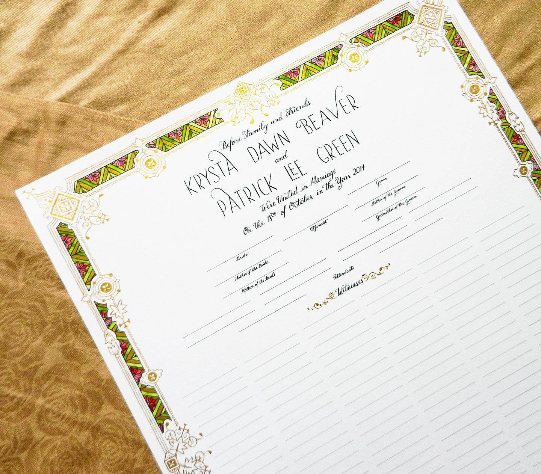 Papyrus Wedding Invitations 15 Unique Krysta Marriage Certificate of