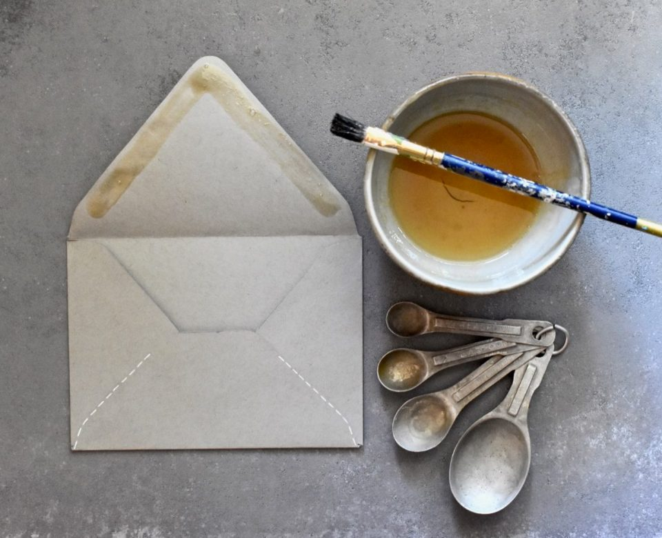 Handmade envelope, DIY glue