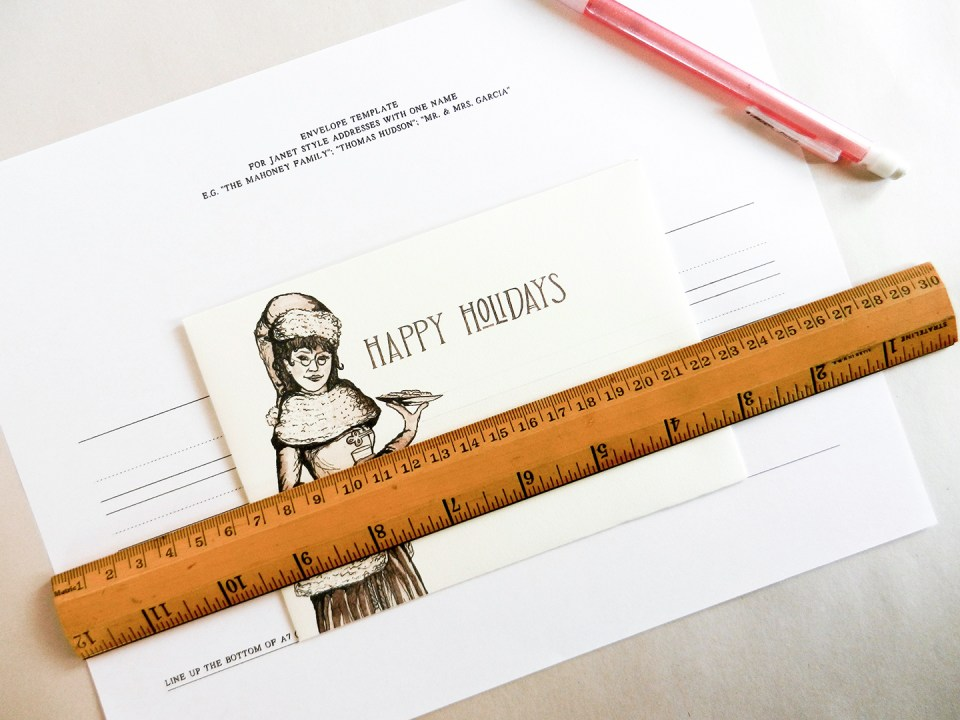 Printable Holiday Envelopes | The Postman's Knock