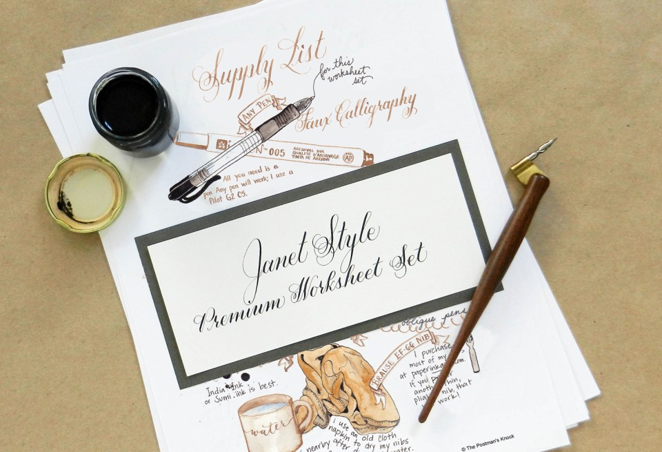 Learn Calligraphy in the Janet Style | The Postman's Knock