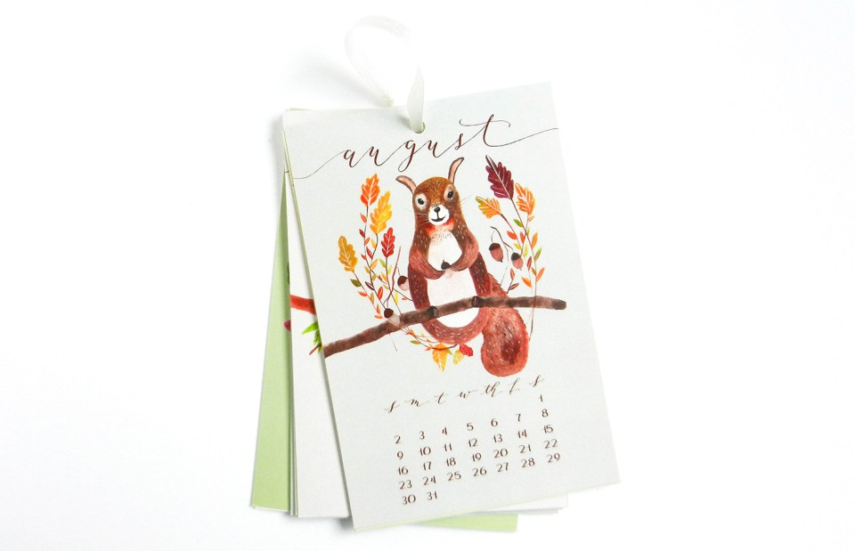 "4""x6"" Hanging Calendar 
