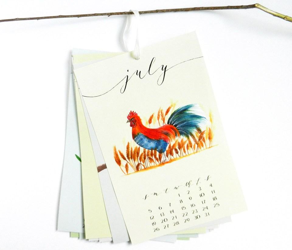 "6""x9"" Hanging Calendar | The Postman's Knock"