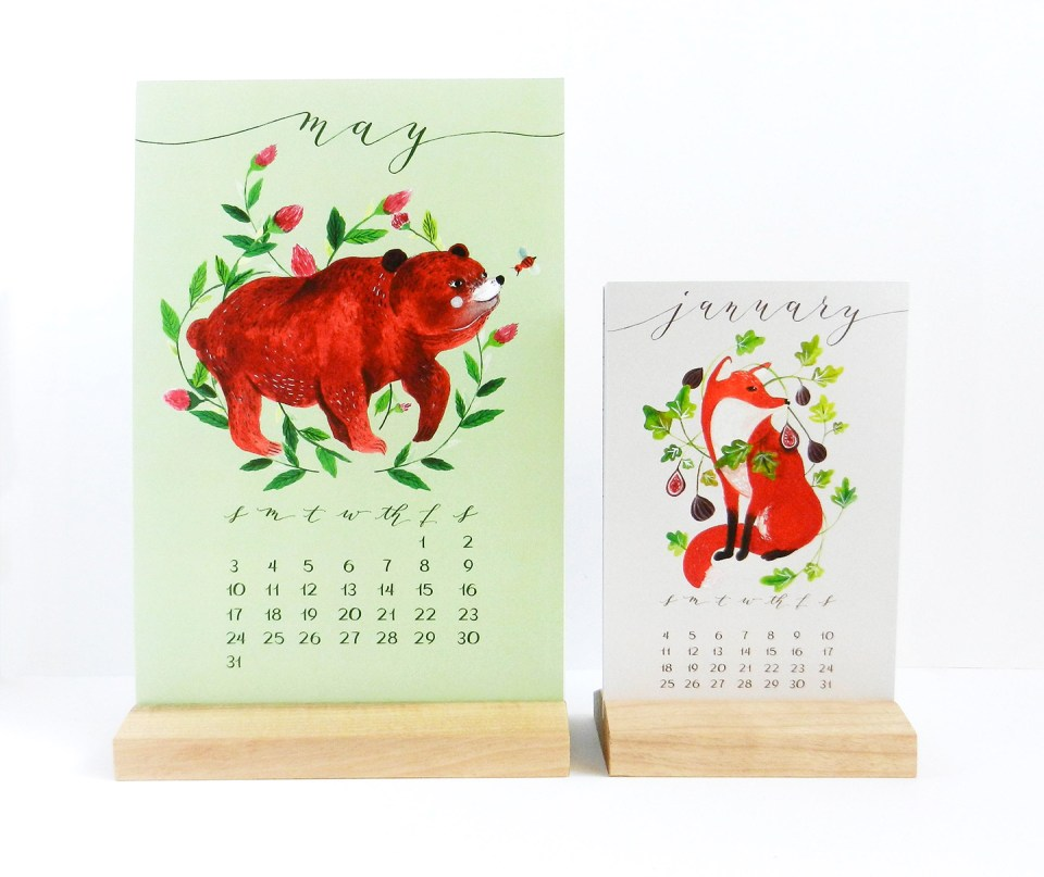 "6""x9"" 2015 Desk Calendars 
