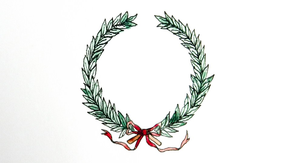 laurel leaf crown template - 10 ways to draw laurel wreaths the postman 39 s knock