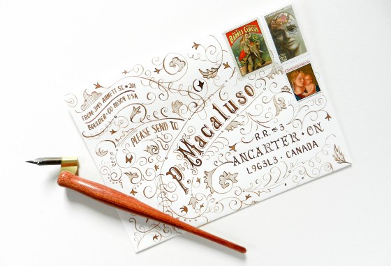 Typography Art Envelope Tutorial   The Postman's Knock