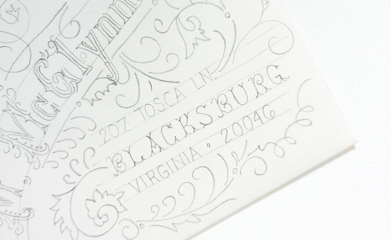 Typography Art Envelope Tutorial | The Postman's Knock