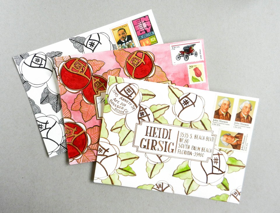 Art Deco Envelope Art Tutorial | The Postman's Knock