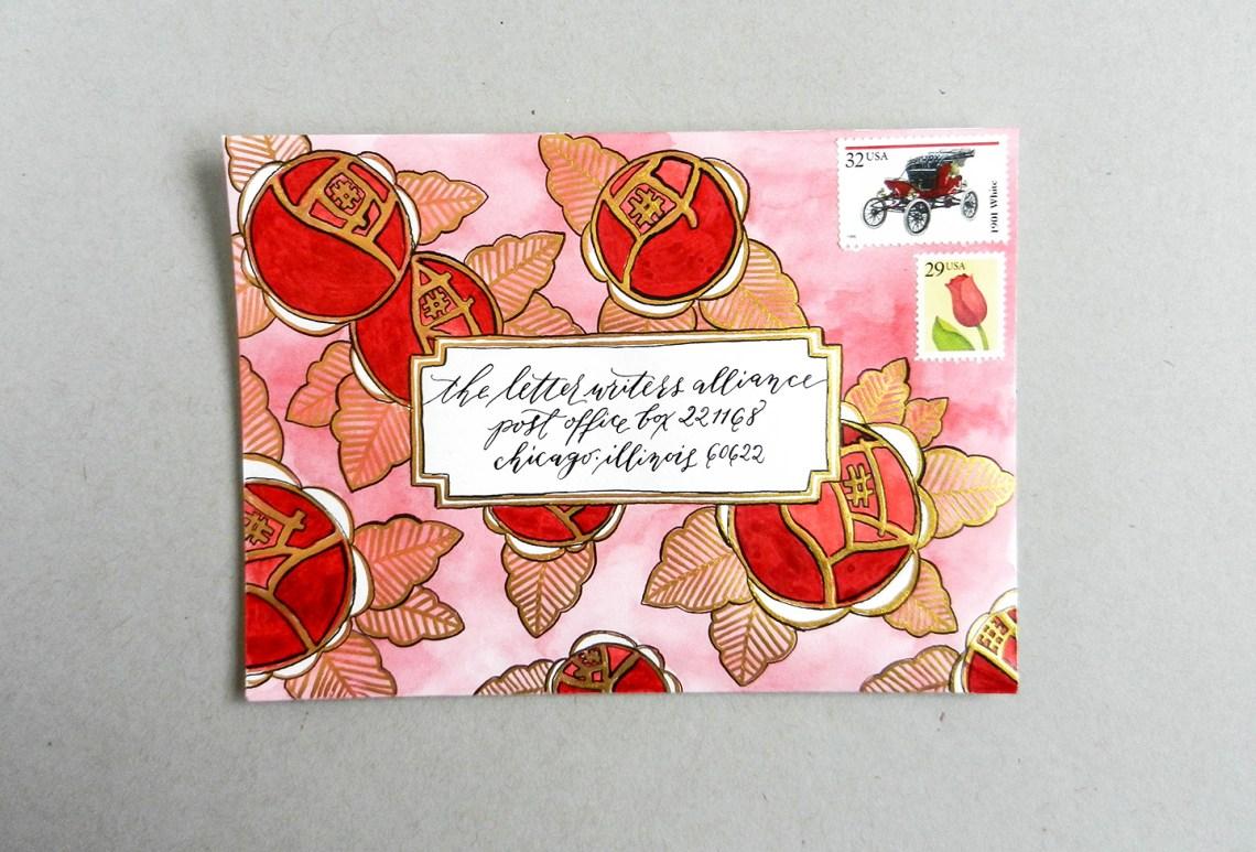 Art Deco Envelope Art Tutorial   The Postman's Knock