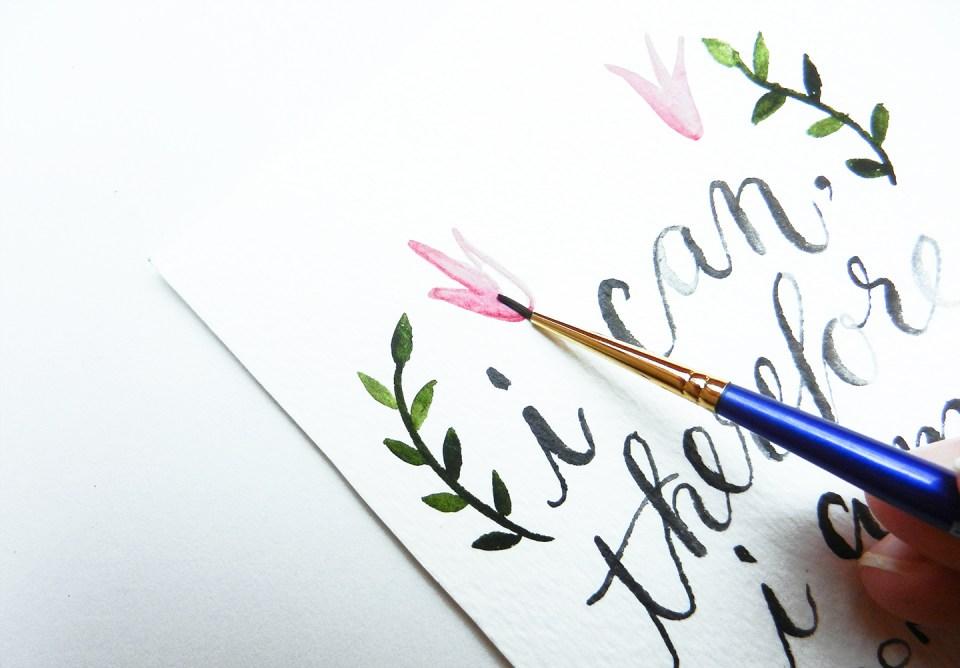 Watercolor Lettering + Free eWallpaper | The Postman's Knock