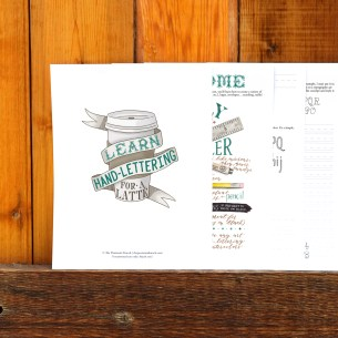 This 23-page hand-lettering worksheet set will help you to learn the basics of some simple letterforms and show you how to compile those letterforms into a cohesive art piece!