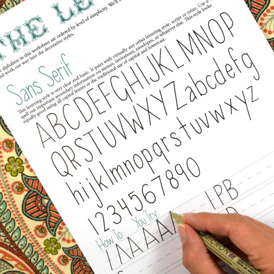 Plenty of practice opportunities will ensure your hand-lettering success!