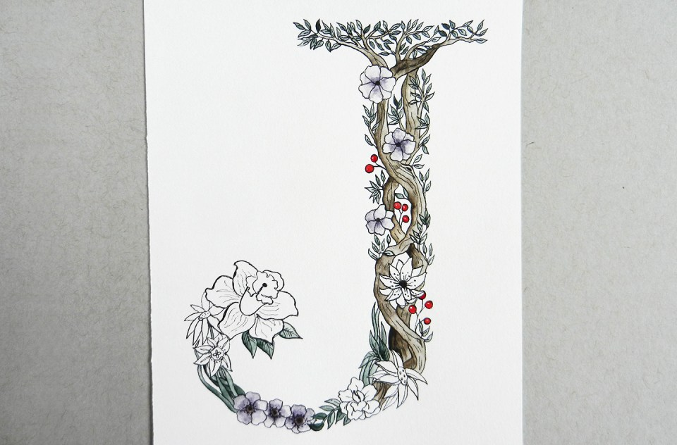 Botanical Letter Tutorial | The Postman's Knock