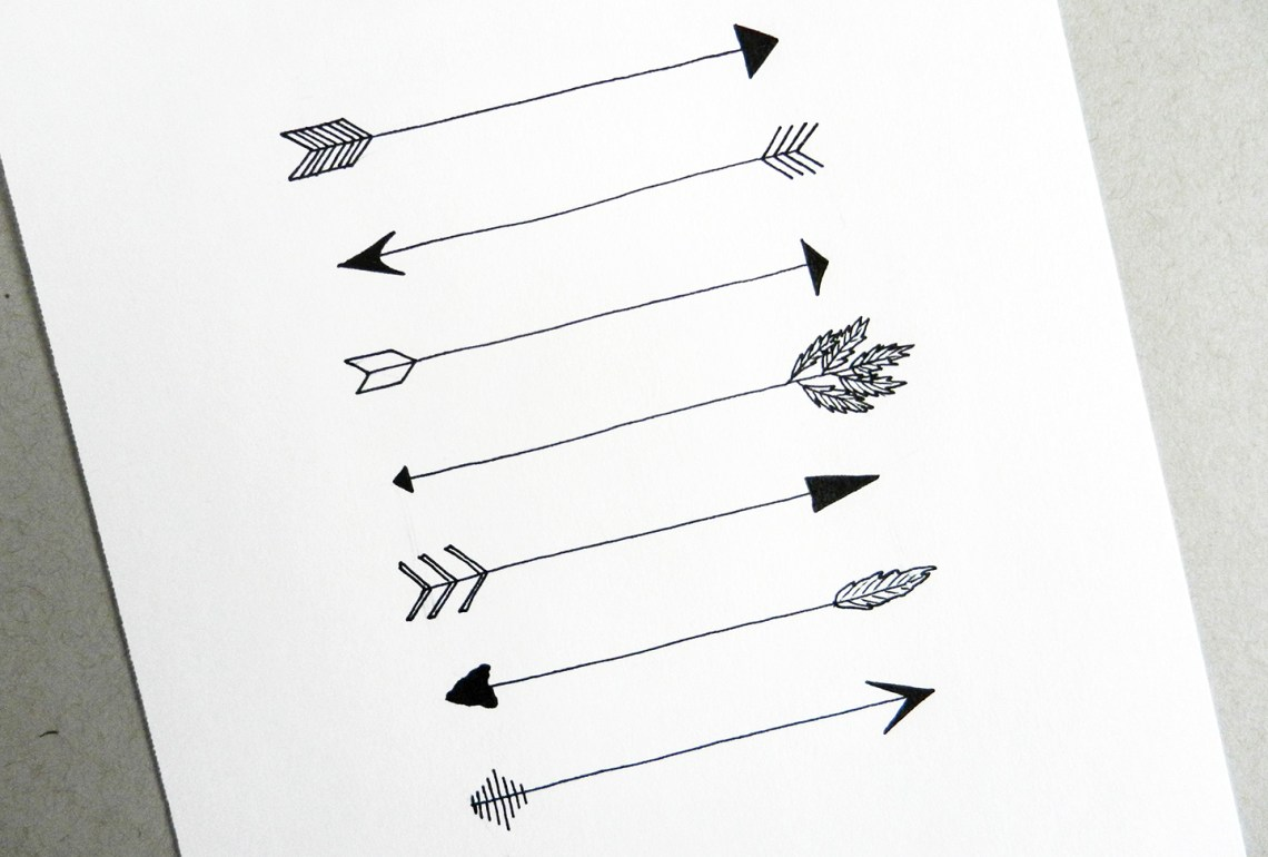 Drawing Lines With Arrows In Photo : Hand drawn arrows tutorial the postman s knock