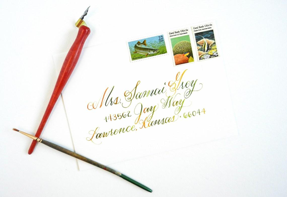 Watercolor calligraphy tutorial the postman s knock
