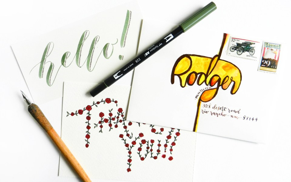 Creative Hand Lettering Tutorials Part I  | The Postman's Knock