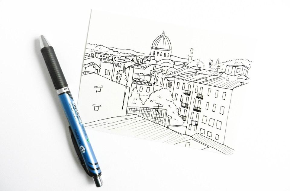 Line Art Photo Tutorial : Brush pen tutorial giveaway the postman's knock
