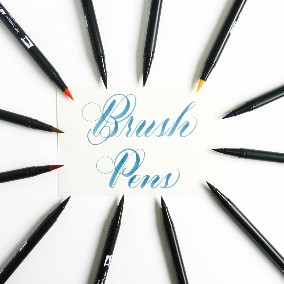 Brush Pen Tutorial   The Postman's Knock