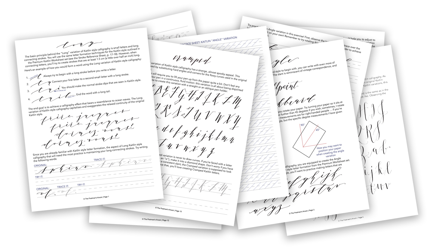 5 Calligraphy Variation Techniques + A Surprise Worksheet   The Postman's Knock