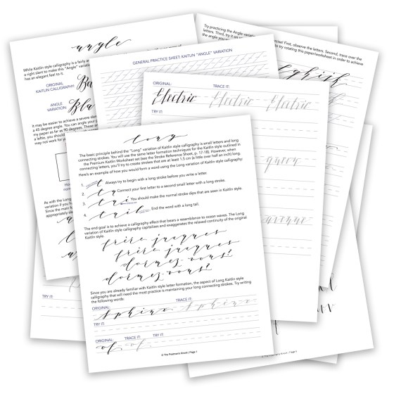 Premium Kaitlin Worksheet Add-On: Style Variations | The Postman's Knock