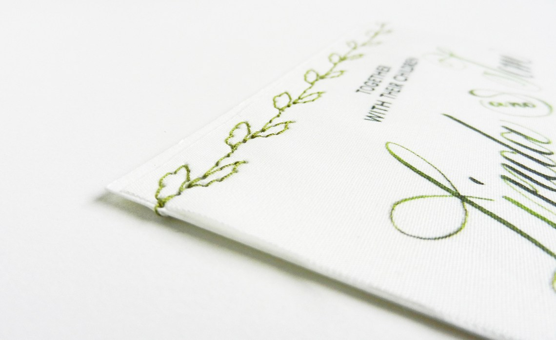 DIY Fabric Wedding Invitations Tutorial | The Postman's Knock