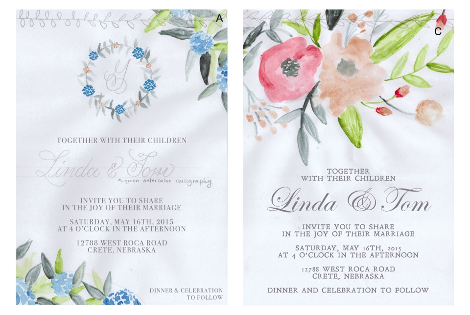 DIY Wedding Invitation Drafts | The Postman's Knock