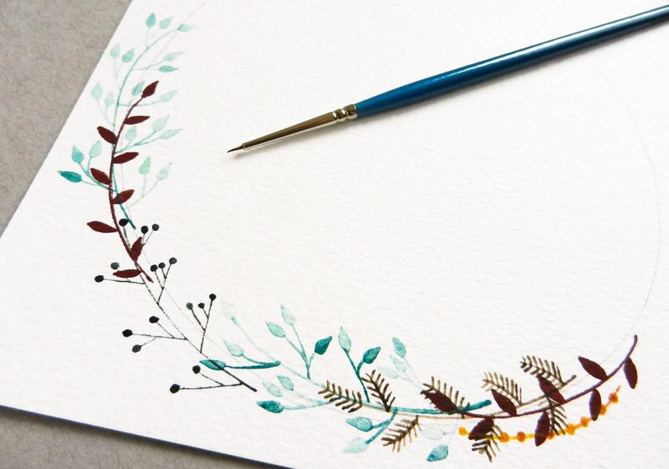 Botanical Watercolor Wreath Tutorial | The Postman's Knock