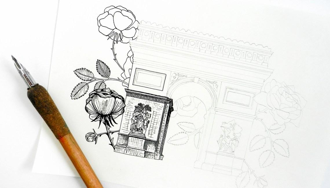 Arc de Triomphe Illustration | The Postman's Knock