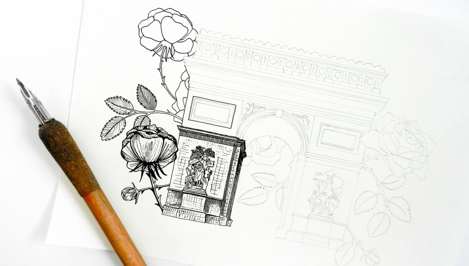 Arc de Triomphe Illustration | The Postman's Knock