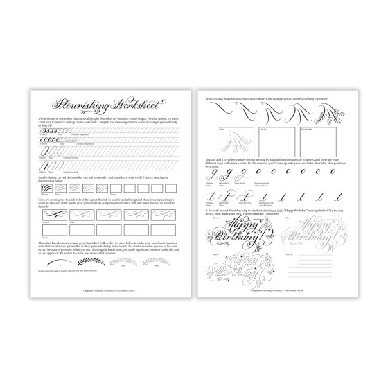 You'll enjoy using this free printable worksheet to improve your flourishing skills!