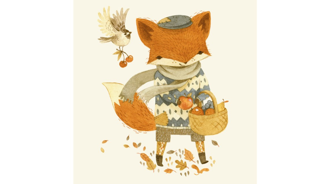 Fritz the Fruit Foraging Fox ©Teagan White | Behance