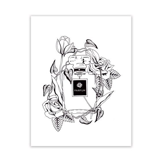 Free Adult Coloring Page: Parfum et Fleurs | The Postman's Knock