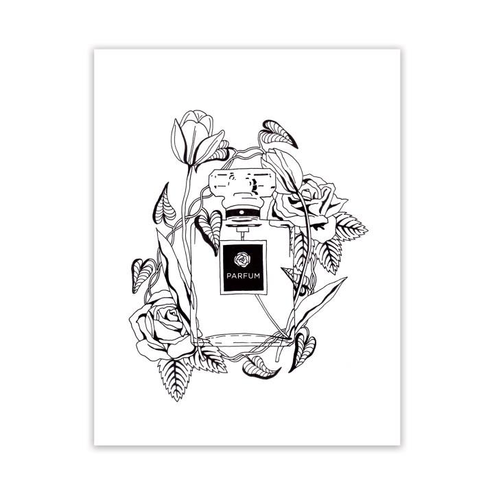 Free Adult Coloring Page: Parfum et Fleurs   The Postman's Knock