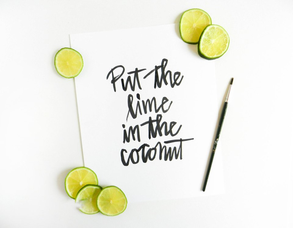 Simple Modern Brush Lettering Tutorial | The Postman's Knock