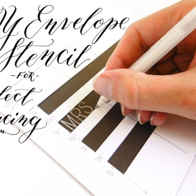 DIY Envelope Stencil for Perfect Spacing