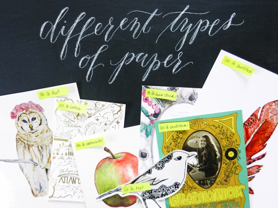 Different Types of Paper | The Postman's Knock