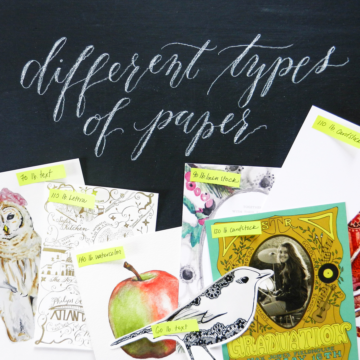 different types of paper the postman s knock
