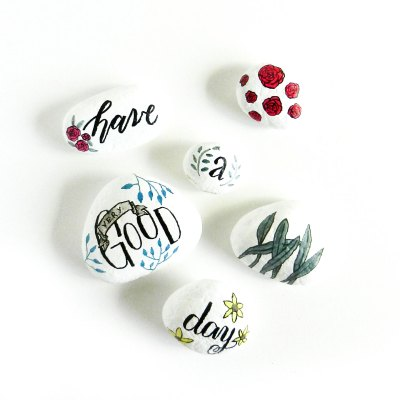 Day-Brightening Painted Stones Tutorial