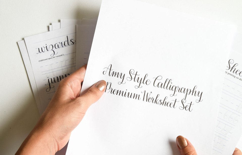 Introducing the amy style learn calligraphy for a latté