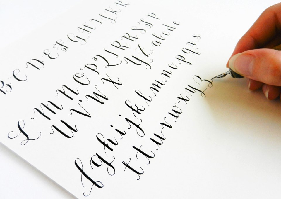 Introducing the Amy Style Learn Calligraphy for a Latté Set + Video Course | The Postman's Knock