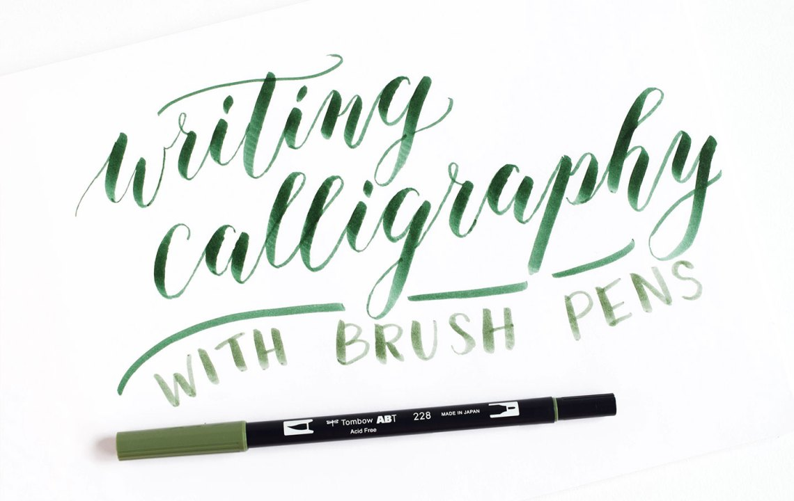 Using brush pens for calligraphy a tombow giveaway the