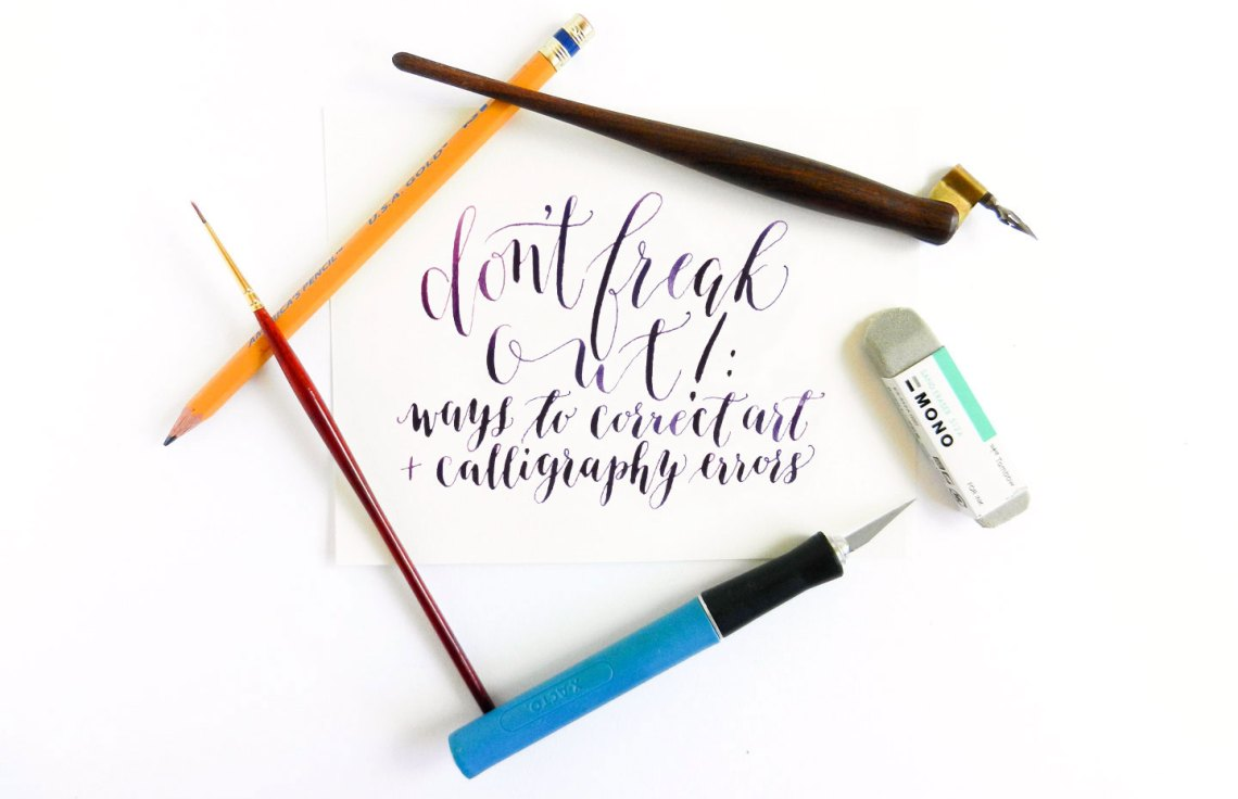 Don't Freak Out: Ways to Correct Art & Calligraphy Errors   The Postman's Knock