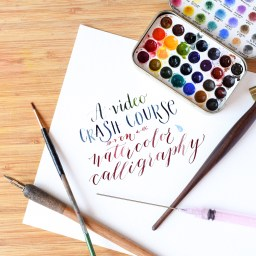 A Video Crash Course on Watercolor Calligraphy | The Postman's Knock