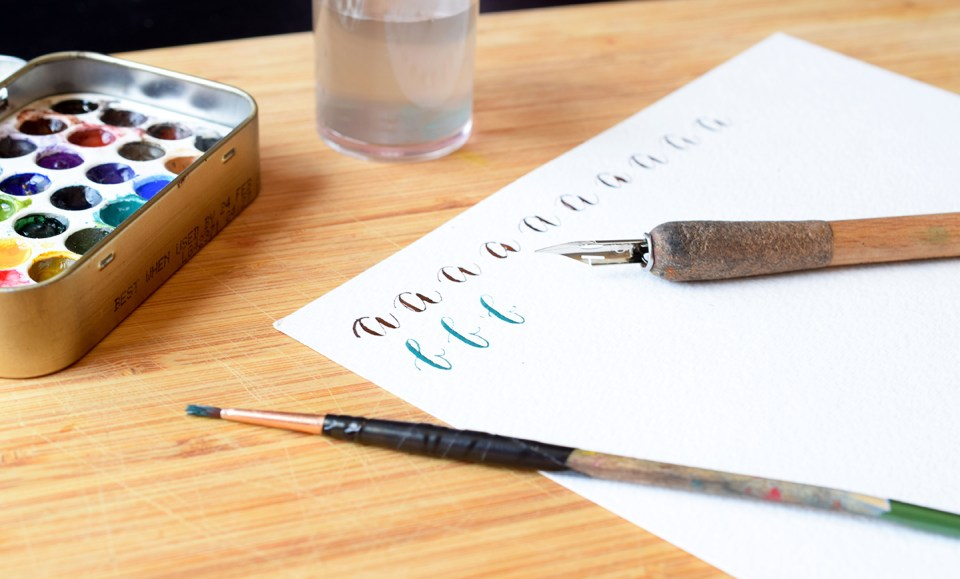Watercolor Calligraphy   The Postman's Knock