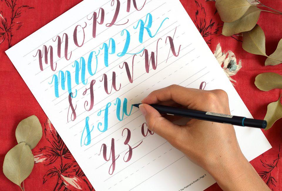 Brush pen calligraphy worksheet the postmans knock why learn brush pen calligraphy expocarfo