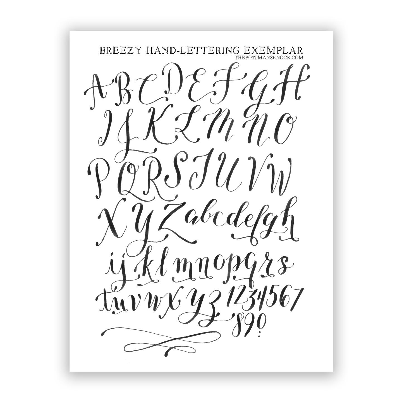 Free Basic Breezy Hand Lettering Exemplar
