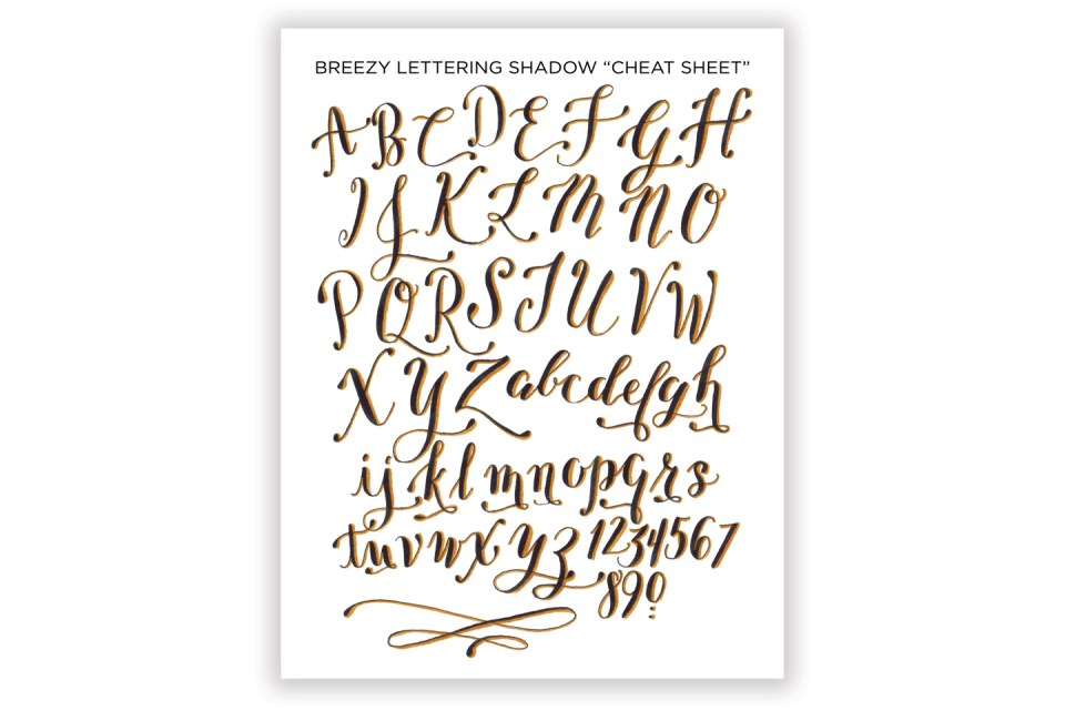 how to draw shadow letters az