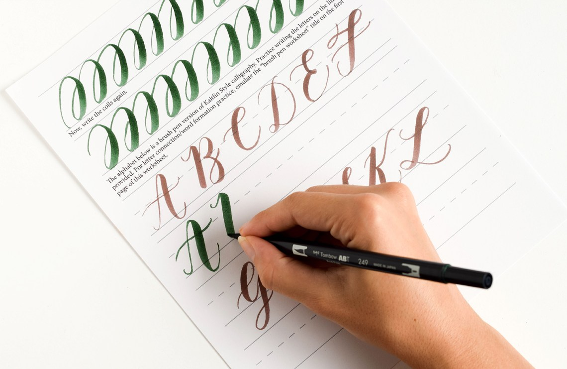 Printables Free Calligraphy Worksheets free brush pen calligraphy worksheet the postmans knock