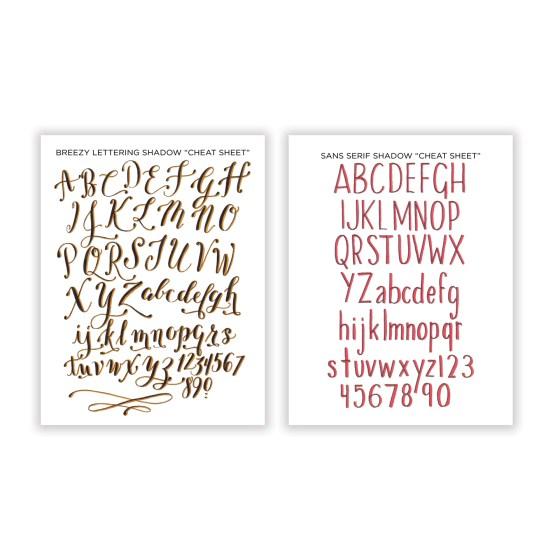 Breezy + Sans Serif Cheat Sheets | The Postman's Knock