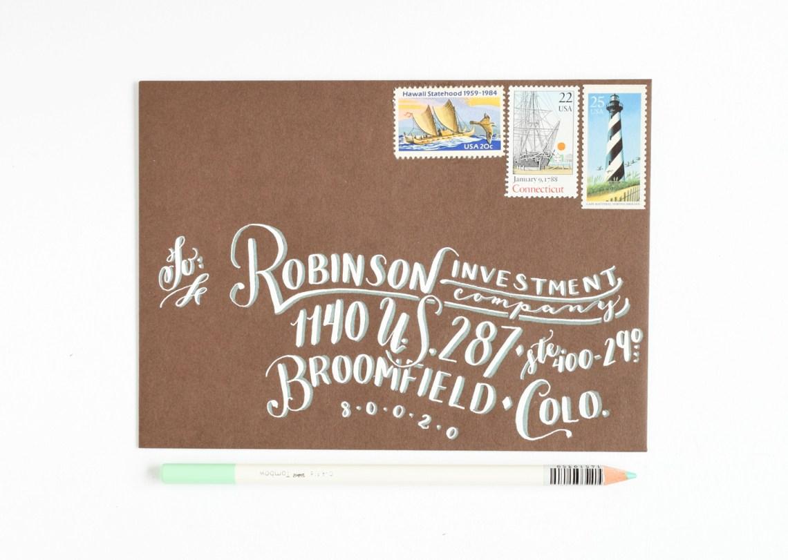 Breezy Hand-Lettering Tutorial | The Postman's Knock